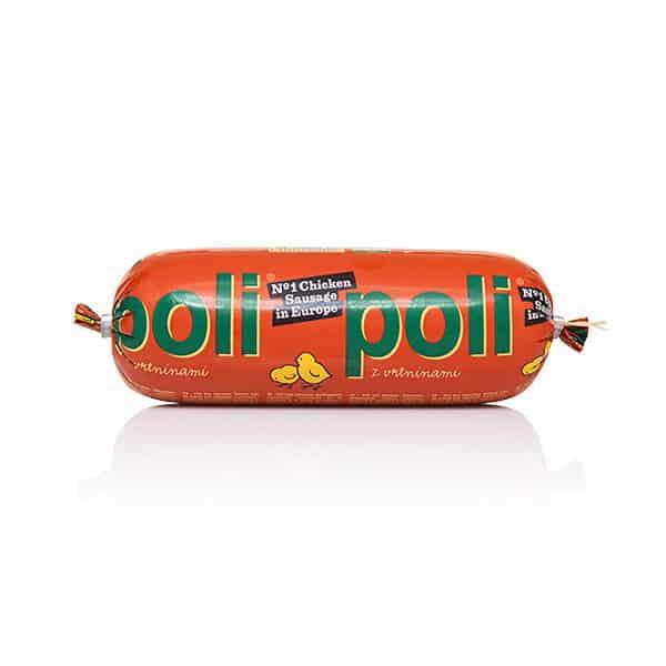 Poli classic med grönsaker (skivbar kycklingkorv)